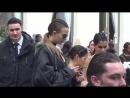 Сара Сампайо покидает показ «Balmain», Нью-Йорк (02/03/17)