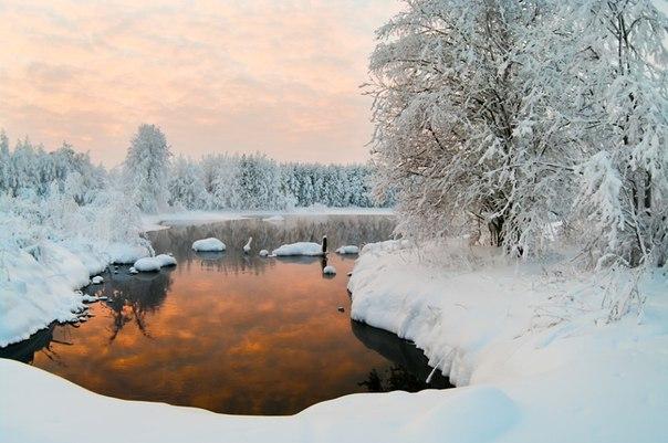 Красота Карелии зимой