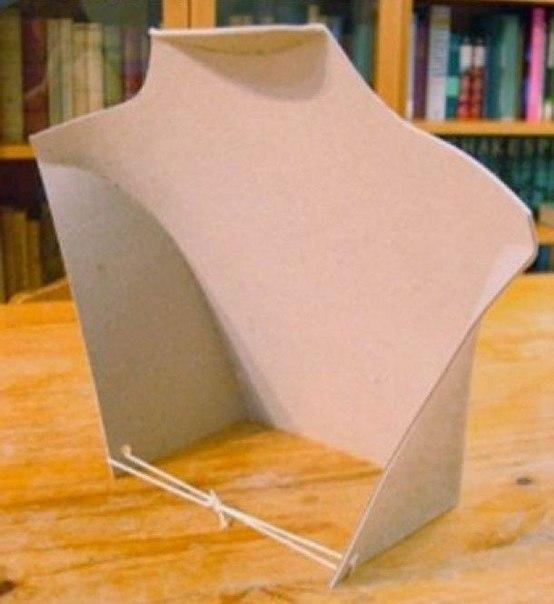 Подставка из картона для бижутерии своими руками