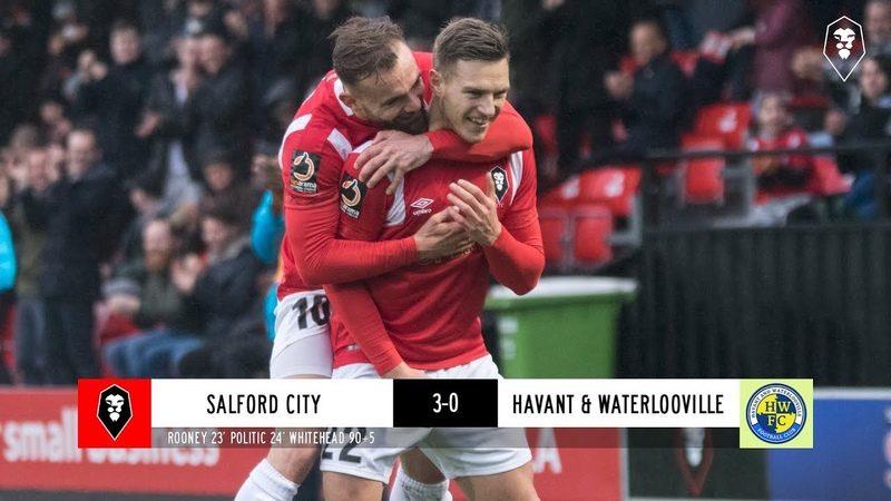 Salford City 3 0 Havant Waterlooville The National League 01 12 18