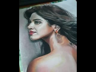 Portrait of indian actress