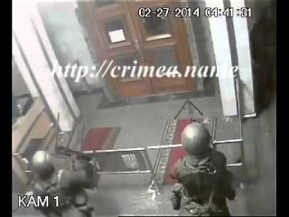 Захват СовМина Крыма -  видео с камер наблюдения! /  Евромайдан