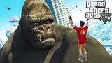 КИНГ КОНГ НАПАЛ НА ГОРОД ЛОС САНТОС В ГТА 5 МОДЫ! ОБЗОР МОДА GTA 5 видео игра для детей