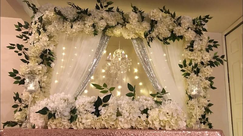 DIY- chandelier floral backdrop in multiple color style DIY- beautiful backdrop DIY- wedding decor