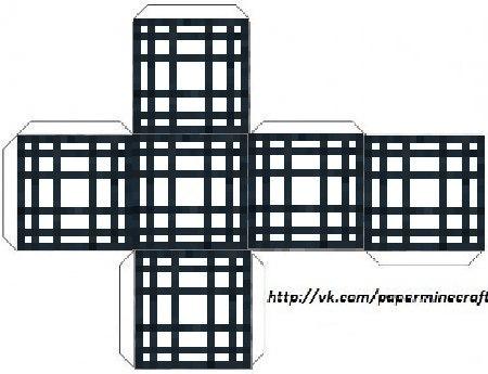 67Как сделать майнкрафт из бумаги схемы блоков