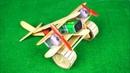 How to make Aeroplane with DC motor [ Woodem Plane DIY ]