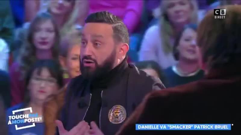Le youpin Bruel embrasse Danielle Moreau sur TPMP. Pathétique ...
