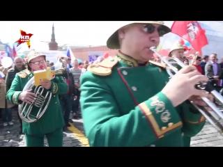 Первомайская демонстрация на Красной площади в Москве