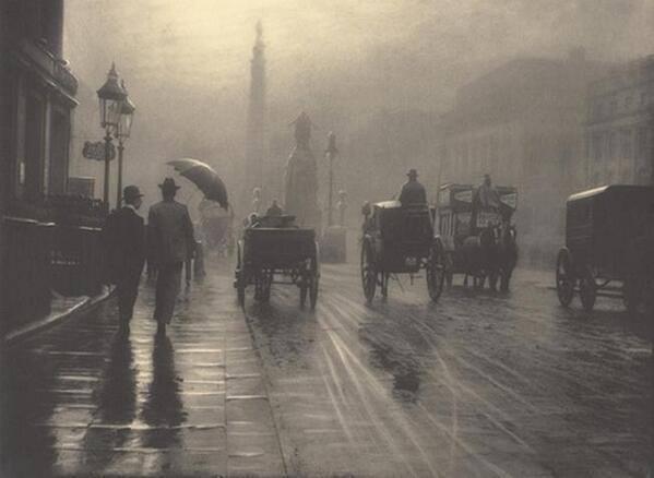 Туманный и дождливый Лондон,