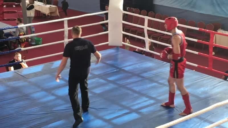 Кубок МО по тайскому боксу, Зинаков Евгений (синий угол) 3-й раунд