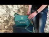 Бирюзовая маленькая матовая молодежная сумочка-клатч