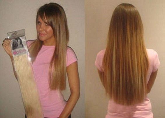 Накладные волосы на заколках купить в нижнем
