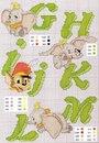 Вышивка крестом.  Подборка схем алфавита с героями диснеевских мультфильмов.  Часть 2.