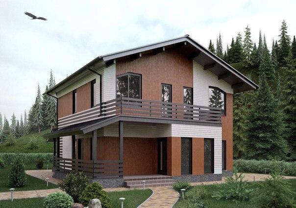 Шикарный каркасный дом. Площадь 154 м.