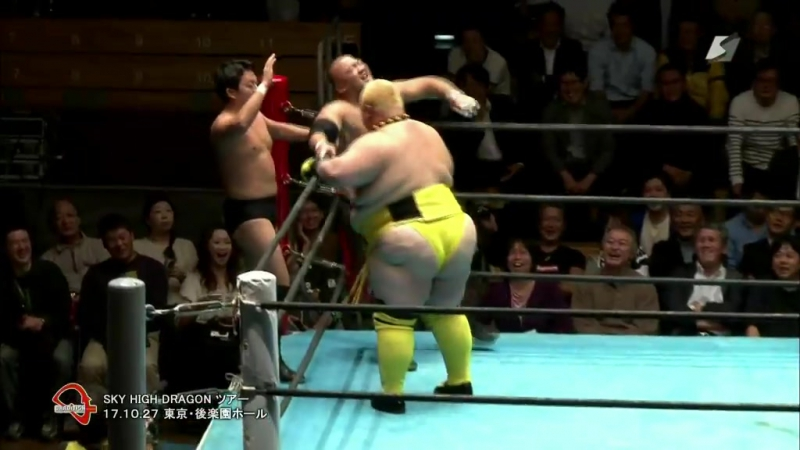 LEONA, Ryota Hama vs. Shogun Okamoto, Super Tiger (Dradition - Sky High Dragon Tour 2017 - Day 1)