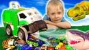 Мусоровоз Дасти и машинки Хот Вилс Мультик с игрушками машинками