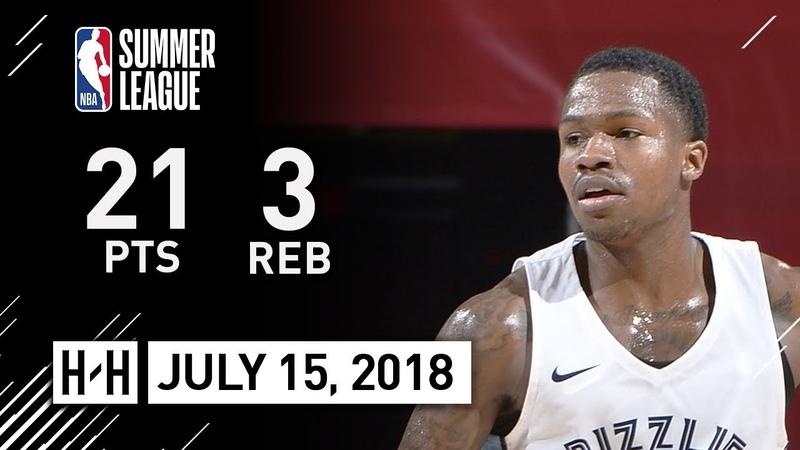 Brandon Goodwin Full Highlights vs 76ers (2018.07.14) NBA Summer League - 21 Pts, 3 Reb