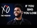IF YOU SING YOU LOSE 😱 (THE WEEKND) BTW DO NOT SING IN YOUR HEAD 🐰