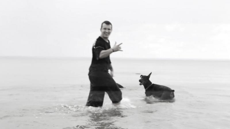 Дарк и Раф первое купания!