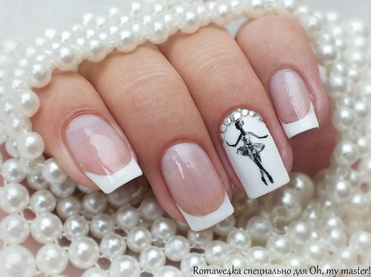 Ногти с балериной фото
