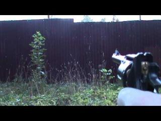 Пневматический револьвер и пули блик.