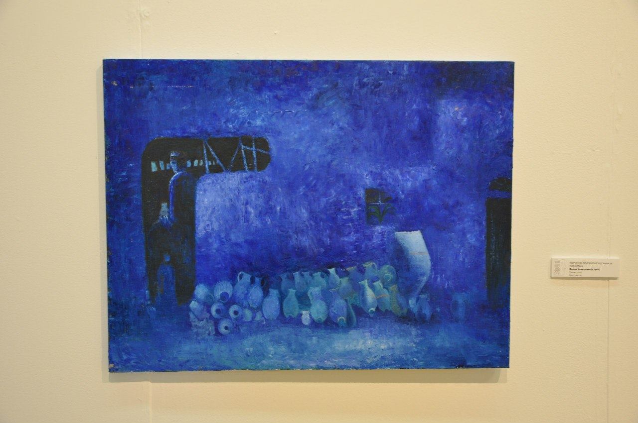 Творческое объединение художников Узбекистана  Фаррух Ахмадалиев (р. 1982)  Гончар. 2007  Холст, масло