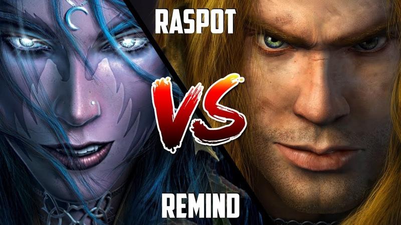 WC3: ReMinD (Night Elf) vs. Raspot (Human) [BlizzCon 2010 G2] | Warcraft 3