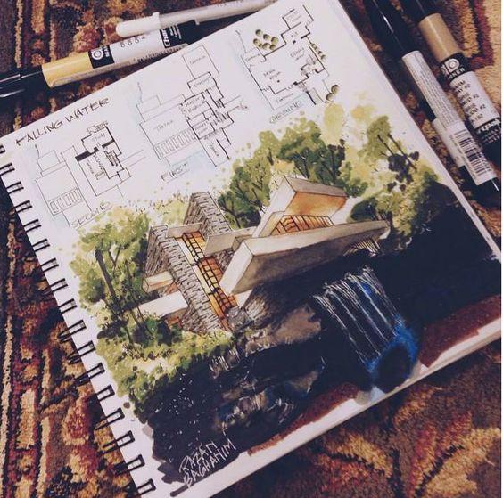 Архитектурная графика, перспектива.
