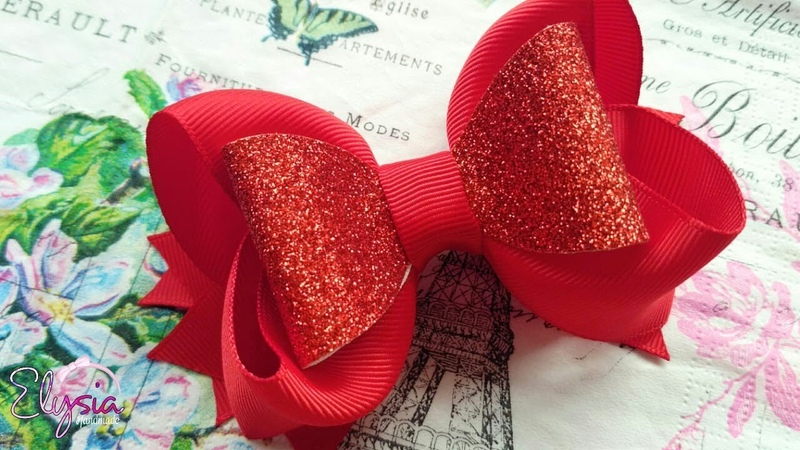 Boutique Ribbon Bow For Christmas Eve 🎀 Tutorial 🎀 DIY by Elysia Handmade