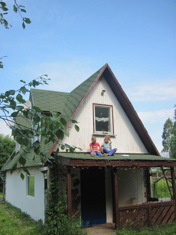 Домик на крыше
