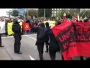 Chemnitz Polizei scheint momentan etwas ratlos immer mehr ANTIFA auf Demostrecke der AFD