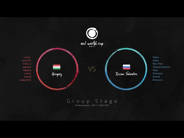 Osu! World Cup 2017 (OWC 2017) Group Stage: Hungary vs Russian Federation