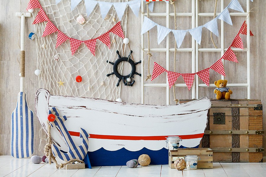 Декорации в морском стиле