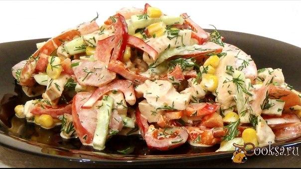 """Салат """"Парижель"""" Вкусный свежий салатик, который очень легко и быстро готовится. Всего несколько минут и салатик готов."""