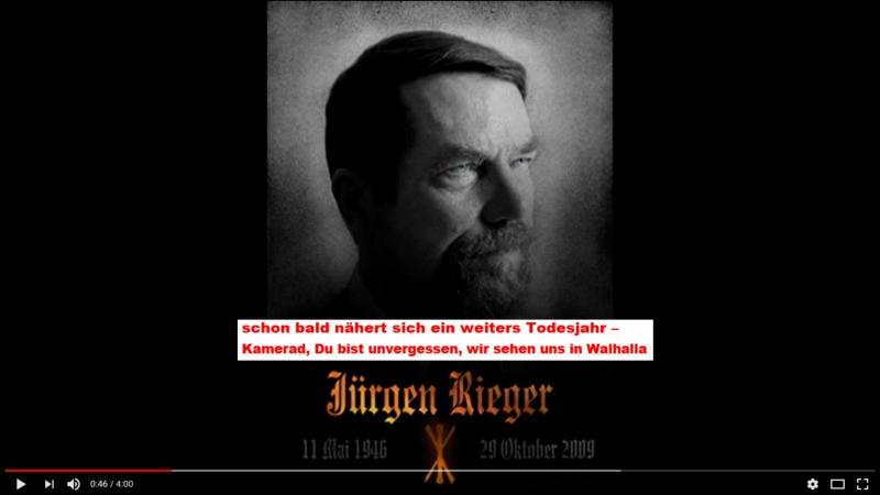 Jürgen Rieger Anwalt für Deutschland - UNVERGESSEN