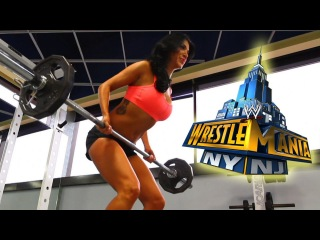 Rosa Mendes prepares for WrestleMania 29 with an epic workout!