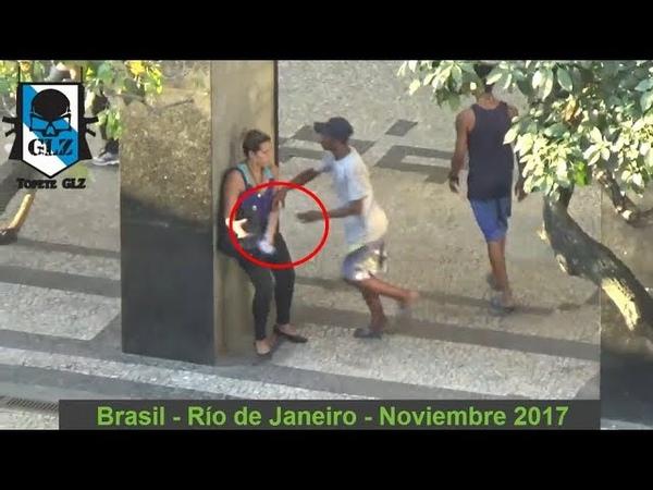 Brasil - Gran Miseria en las calles de RÍO DE JANEIRO - Noviembre 2017