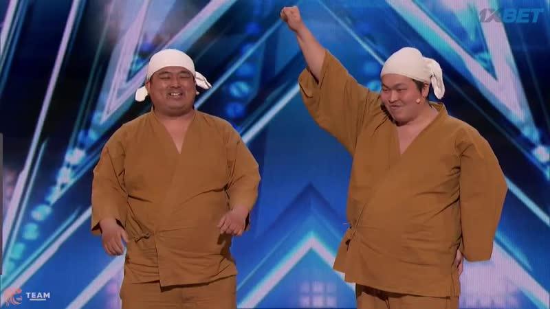 Yumbo Dump (Audition) - позитивные японские животастые ребята [Americas Got Talent - S13E02-Part1]