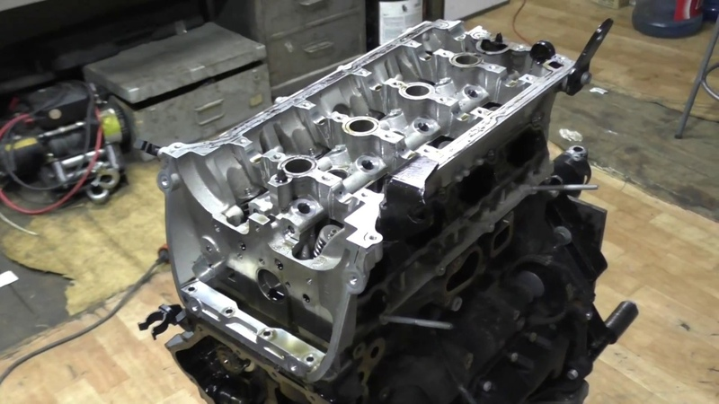 Вскрытие мотора AUDI Q5 после раскоксовок