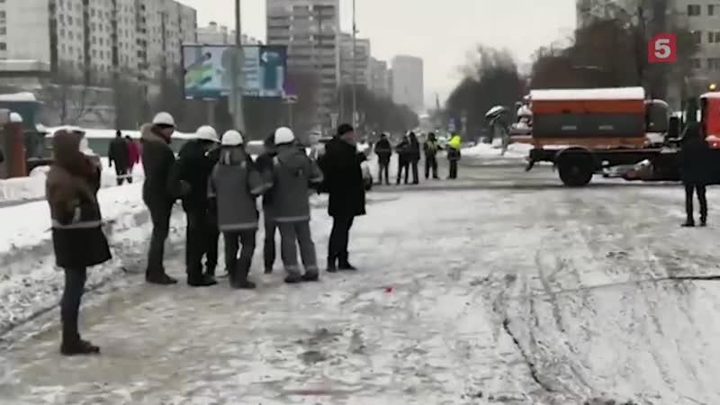 Провал грунта вМоскве