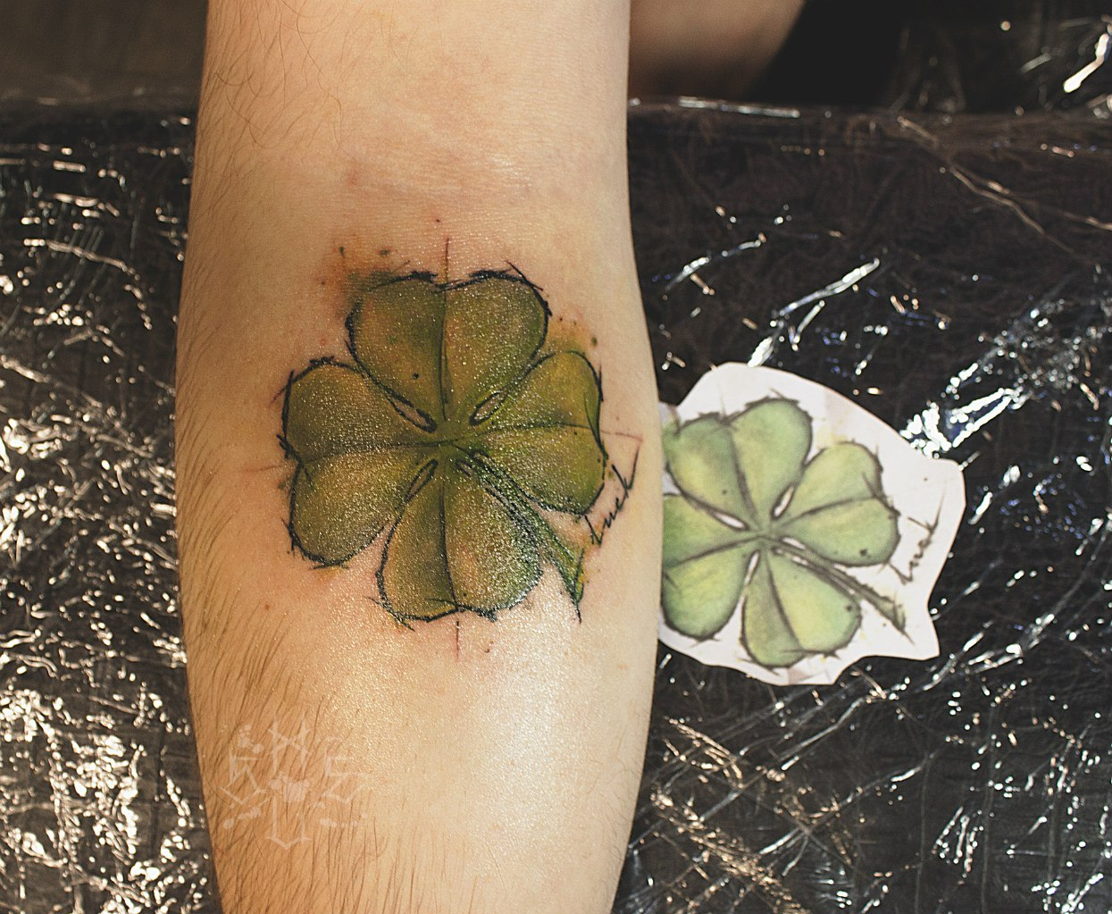 Татуировки из клевера фото
