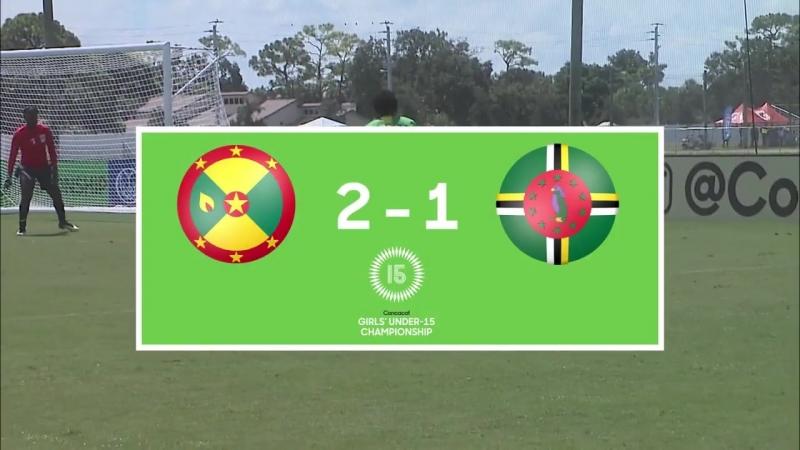 до 15 лет 2018_ Grenada vs Dominica Highlights