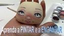 Pintura de rosto de boneca de pano APRENDA A PINTAR E A ENCANTAR