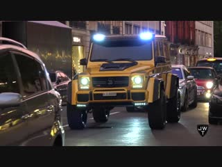 550HP BRABUS Mercedes-Benz G500 AMG 4x4 in London! REVS Exhaust SOUNDS