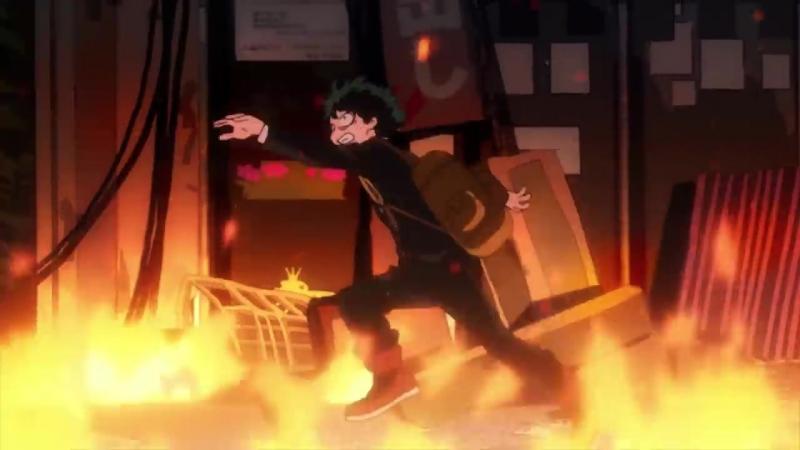 ヒロアカアニメ名シーン:第1弾「君が救けを求める顔してた」 『僕のヒーローアカデミア』第2話より