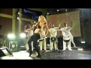 Shakira - Did It Again (Walmart Soundcheck 2009)