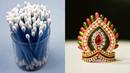 Cotton bud Mukut / Crown For ganesha | cotton bud | ganesha chaturthi | Art with Creativity