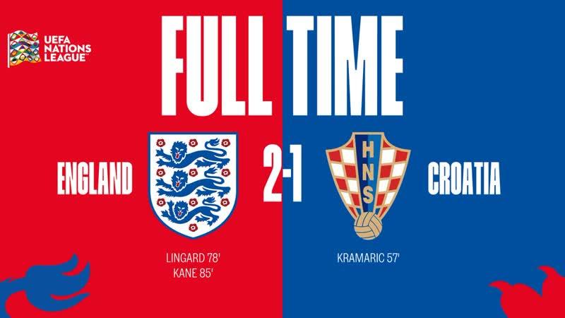 Англия 2-1 Хорватия | Лига Нации | 18.11.2018