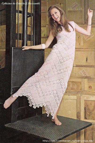 Винтажное платье крючком: (4 фото) - картинка