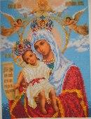 Вышивка бисером: Богородица Милующая ФОТО #2.